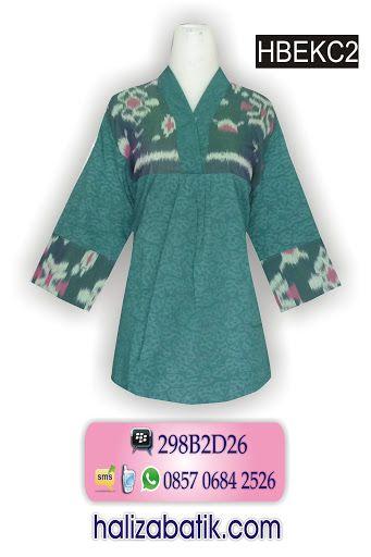 Atasan batik embos warna hijau. Blus batik kombinasi tenun. Model batik lengan 7/8. Blus kerah V dengan kancing ceplik.  Pin. BBM 298B2D26 atau 32699BEF WA 085706842526 atau 088806458846
