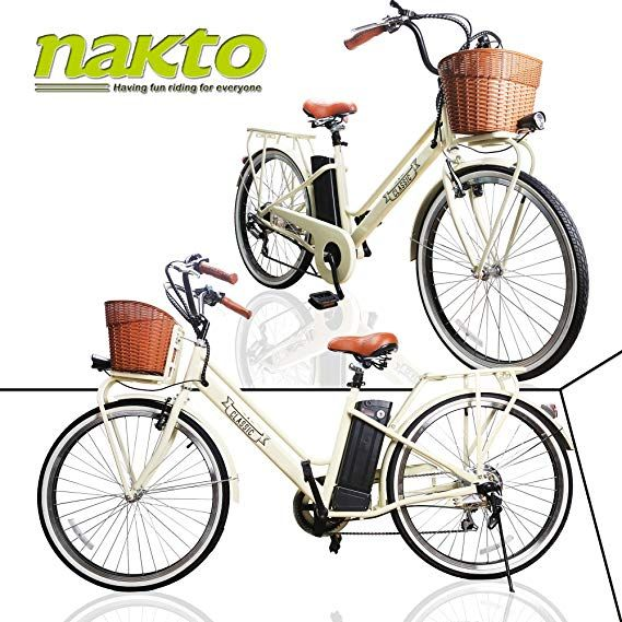 Nakto Electric Bicycles For Adult Comes A Detachable 36v 10ah 12ah