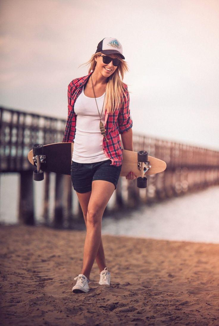 Girl. longboard. dimension two.