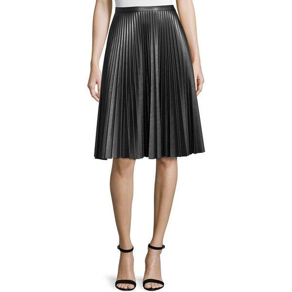 Black A Line Skirt Knee Length