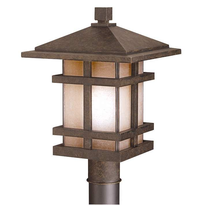 Cross Creek Collection 17 High Outdoor Light Post Mount 95753 Lamps Plus Outdoor Post Lights Lantern Post Lighting