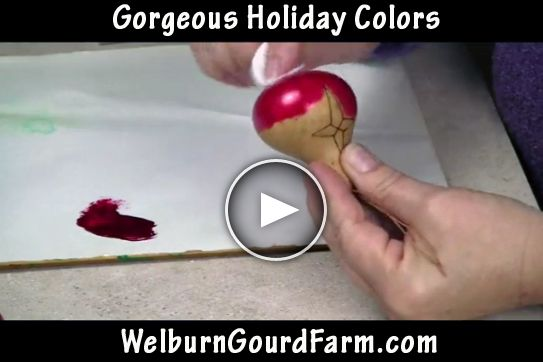 How to Create Gorgeous Holiday Colors for Gourd Ornaments and More