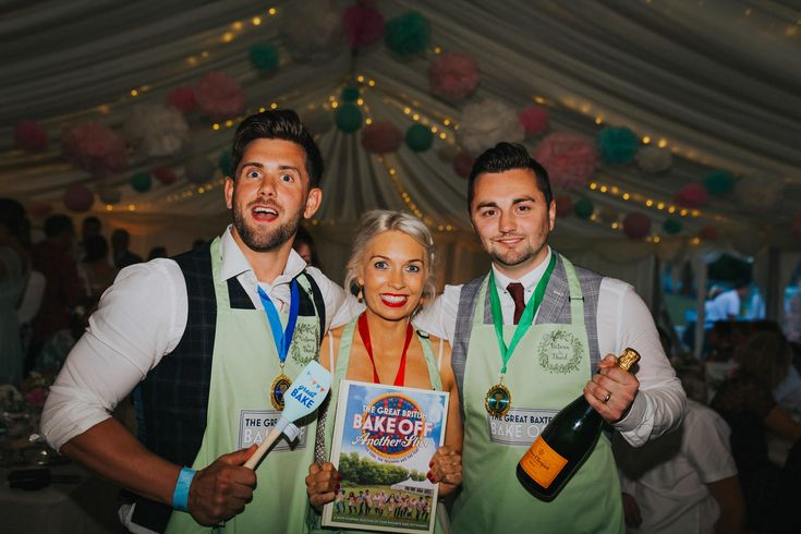 The winners of the bake off! Congrats guys! Photo by Benjamin Stuart Photography #weddingphotography #bakeoff #cake #competition #winners #weddingfun #guestentertainment #audienceparticipation #freepudding