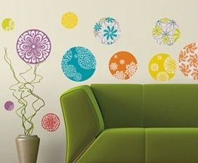 Patterned Dots Wall Decals