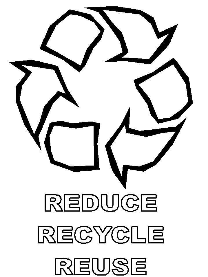 earth day coloring page recycle symbol