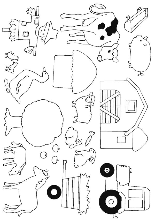 Cows - 999 Coloring Pages-perfect for quiet book pictures