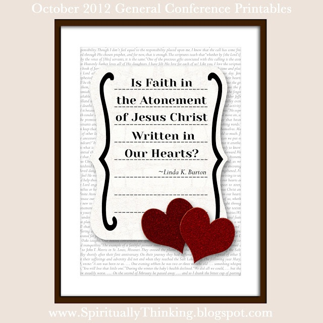 General conference printables october 2012 november for Cute lds quotes