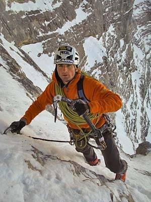 Ueli Steck, North Face Eiger  ohhhh don't slip