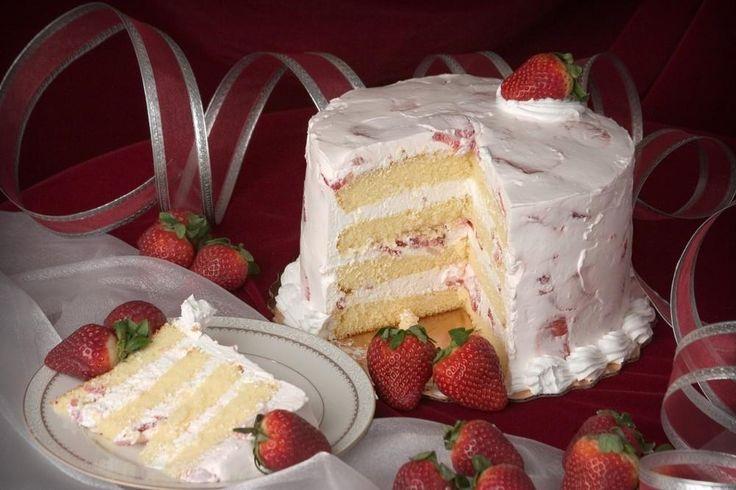 Fresh Strawberry Cake From Ambrosia Bakery Seriously