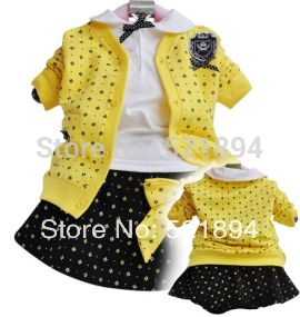 Потеряли деньги, чтобы очистить высокое качество горячей продажи девочка кампуса стиль кардиган рубашка мини платье одежда наборы 3 шт. девушка платье костюм