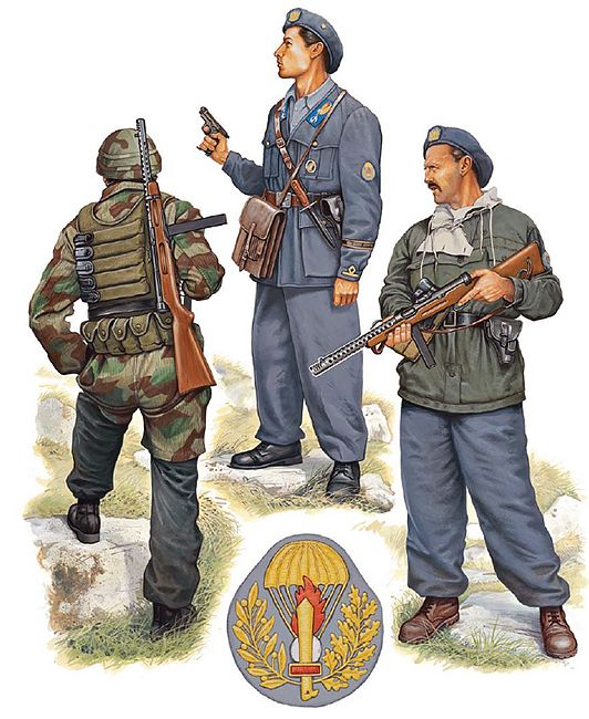 "R.S.I. - Reggimento Paracadutisti ""Folgore"", 1944-45 - • Paracadutista…"