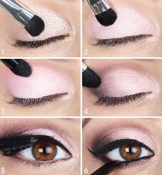 Idea di make up occhi marroni