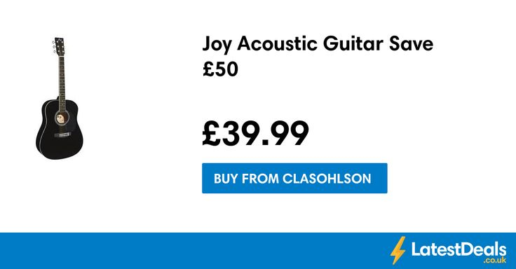 Joy Acoustic Guitar Save £50, £39.99 at Clasohlson