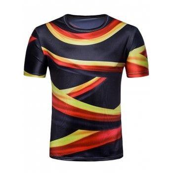 56f18abd55d Short Sleeve Allover Flag of Germany Print T-shirt