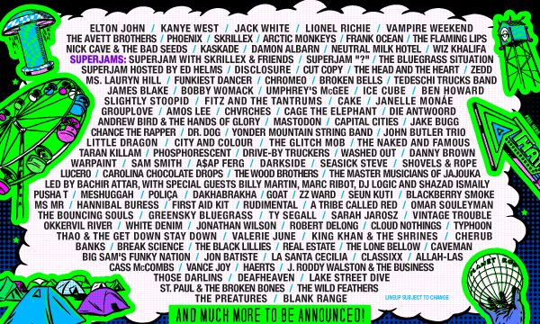Quite the ambitious lineup! Bonnaroo 2014