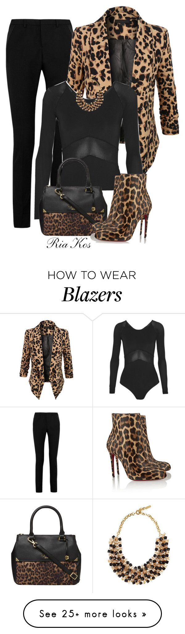 """leopard"" by ria-kos on Polyvore featuring Yves Saint Laurent, LE3NO, Ivy Park, Fiorelli, Etro and Christian Louboutin"