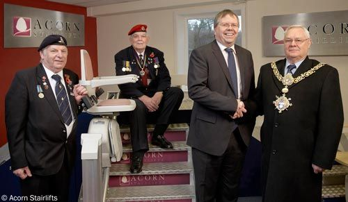 Acorn Stairlifts give a lift to the Royal British Legion