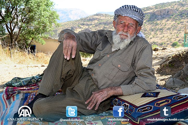 128-year-old Mehmet Esen, fought against the Russians during theWorld War I, lives in in Siirt's Eruh district.