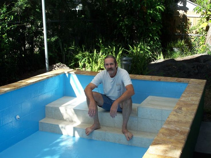 How To Build A Concrete Block Swimming Pool. #SummerVibes | Swimming Pools,  Concrete And Construction
