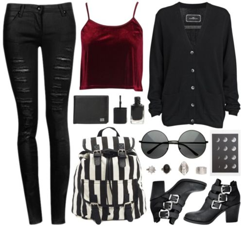 Love love love....Not majorly grunge but I do love this outfit