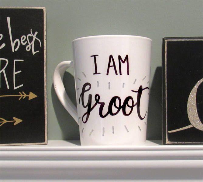 I AM GRROOT Cute Mug | Groot mug | Movie Lover Gift | Guardians | Cute Mug | Gift for Her | Gift for Him | BirthdayGift | Cute Mugs | Summer by BlackLotusJewelryCo on Etsy