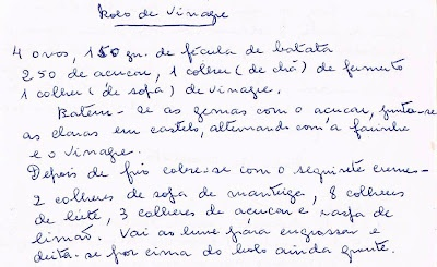 Bolo de Vinagre