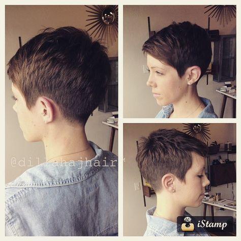 1,943 mentions J'aime, 79 commentaires – Justin Dillaha (@dillahajhair) sur Instagram : « New chick fade pixie on my girl Amanda! #hair #haircut #hairstyle #hairstylist #shorthair… »