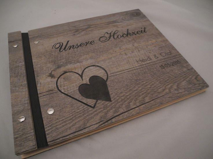 Individualisiertes Fotoalbum in Holzoptik von Affelner-Alben-Stuebchen ...