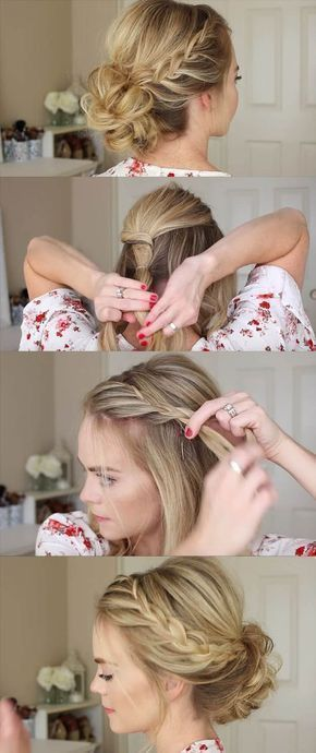 24 Beautiful Bridesmaid Hairstyles For Any Wedding - Lace Braid Homecoming Updo Missy Sue - Beautiful Step by Step Tutorials and Ideas for Weddings. Awesome, Pretty How To Guide and Bridesmaids Hair Styles. These are Easy and Simple Looks for Short hair,  (easy hairstyles for long hair dressy) #braidedhairstylesstepbystep #simpleweddinghairstyles #weddinghairstylesforbridesmaids #easyhairstylesupdo