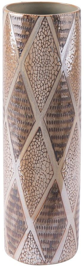 Zuo Era Pearl Brown Tall Cylinder Vase