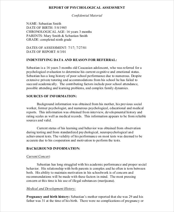 Amp Pinterest In Action Psychology Evaluation Form Report Template