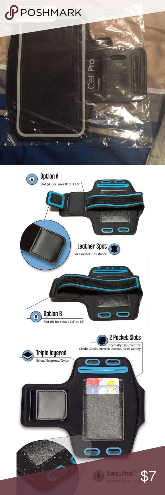 """Universal Sports Armband  (Jet black) Compatible With iPhone 7 Plus / Samsung Galaxy Note 4 5 7 / S6 Plus / S7 Edge (5.5"""" - 5.7"""") Armband is SMALL enough to fit smaller arms, but you can also adjust the Comfortable Soft stretchable VELCRO strap, which allows up to about 16"""" BICEPS - OPTION A: 12.0-16.0"""" [30.4 - 40.5 cm] or OPTION B: 8.0-11.5"""" [20.3-29.2 cm] TOUCHSCREEN works PERFECT through the clear cover! The REFLECTIVE BAND makes you more visible in the night so you can feel safe all the…"""