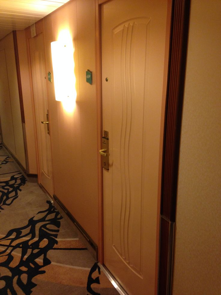 the hallways to our room