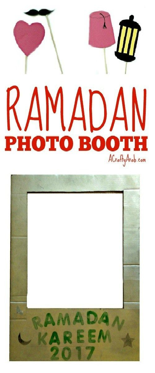 A Crafty Arab: Ramadan Photo Booth {Tutorial}. Our local mosque is having an iftar dinner this weekend. I'm in charge of kid's activities and thought of this Ramadan photo booth.  The parents can take photos, or I have also asked for a projector so the kids can put on a silly fashion show on the wall, for each other.   We made …