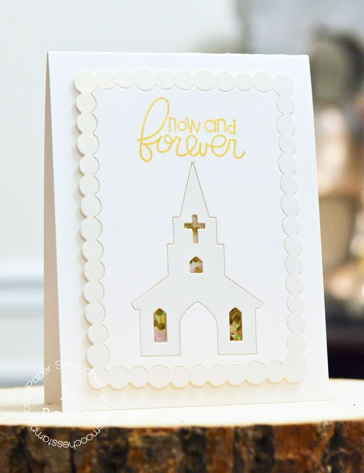 Church die with a little shaker card-type stained glass windows. Cute.