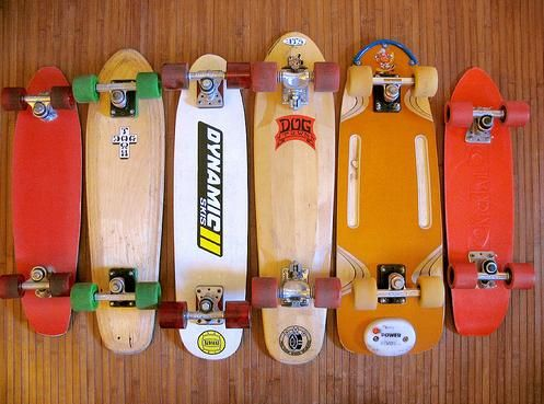 I had a collection of skateboards that looked like this