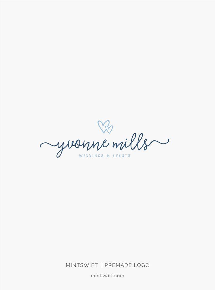 £40 | Yvonne Mills Premade Logo Design | MintSwift