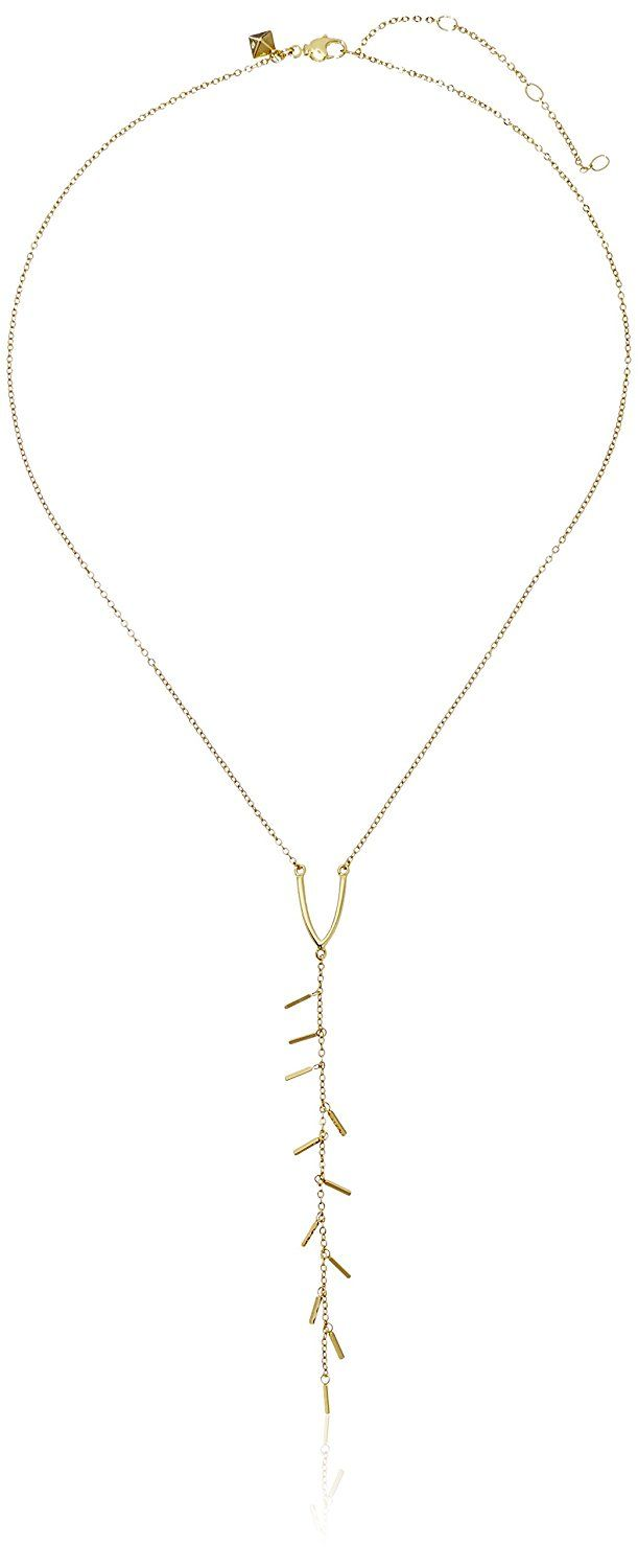 Rebecca Minkoff 'Bar Essentials' Bar Fringe Y-Shaped Necklace -- To view further for this item, visit the image link.