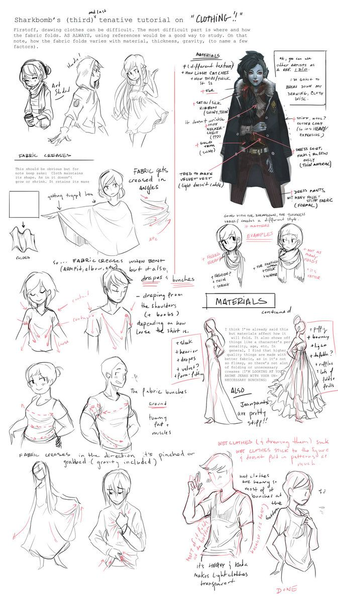 Clothing Tutorial (Notes) by shark-bomb -                                         How to Art