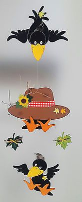Fensterbild-  lustige Rabenbande-Mobile- Herbst-Dekoration - Tonkarton!