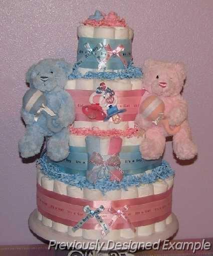 Twins-Diaper-Cake.JPG - Twins Diaper Cake