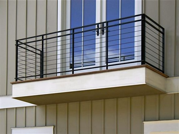 iron railings and banisters residential | arts & crafts steel railing with walnut handrail
