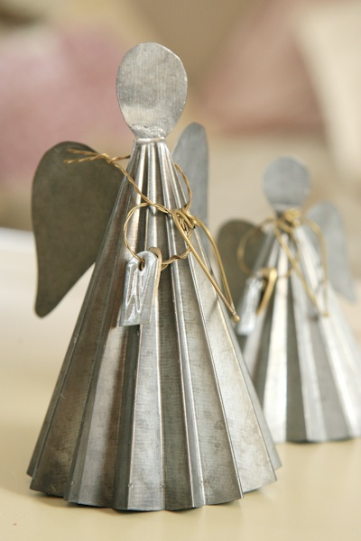 zinc angel ornament