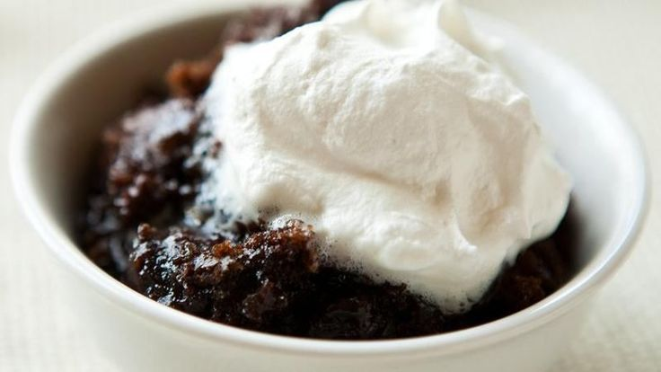 Blogger Angie McGowan of  Eclectic Recipes shares a decadent chocolate lava cake recipe made in the slow cooker.