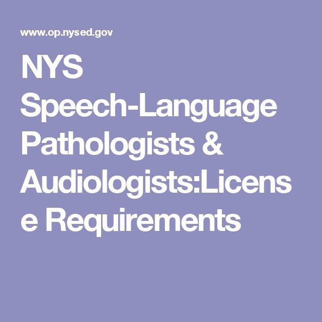 licensed professions speech licensure language pathologists speech ...