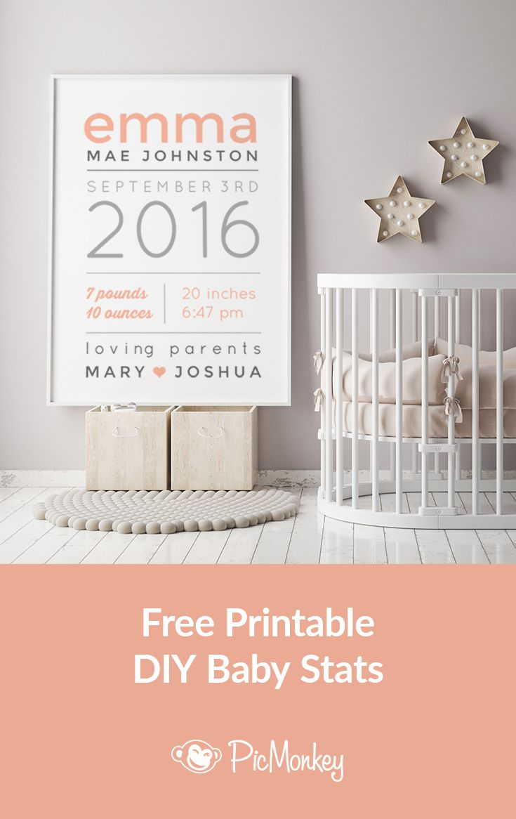 44 best twins nursery twin nursery decor images on pinterest make a personalized baby gift with newborn stats negle