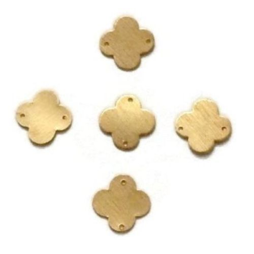 50 Pcs Clover Quaterfoil Charm 24k Gold Plated Golden Stamp Finish Charm 11mm #EMPRESSBEADS #Faceted