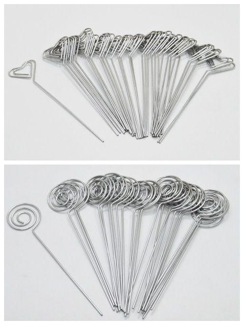 Lot 50 stück DIY herzform handwerk neue draht clip hinweis foto memo halter clips großhandel metall clamp ton kuchen Zubehör deco