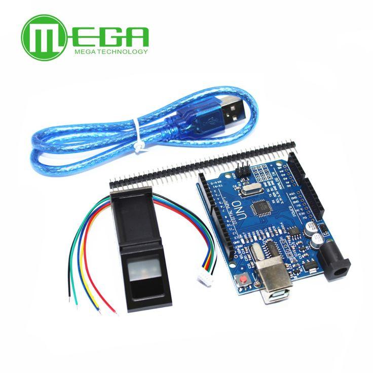 1PCS FPM10A Fingerprint Module  + 1pcs UNO R3 MEGA328P with usb cable #Affiliate