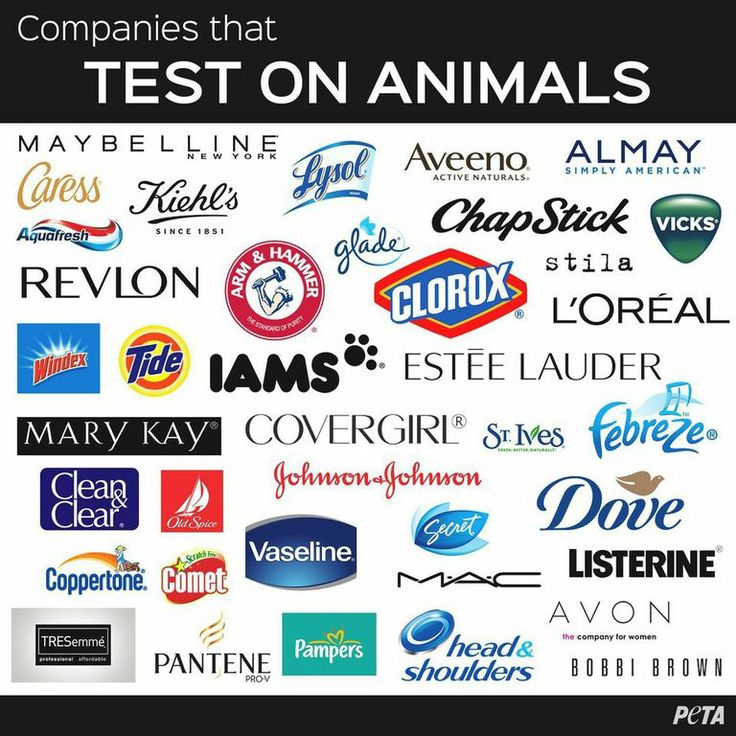 These companies still test on animals. But there's one thing that you can do to stop them. BOYCOTT!